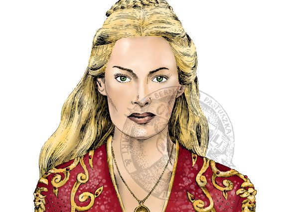 Cersei Lannister, Game of Thrones fanart, digital artwork