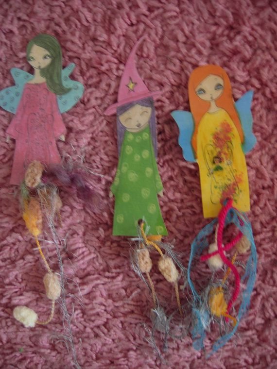 Paper Dolls Laminated Bookmarks with ribbons/no4NEWSet by eltsamp, $15.00