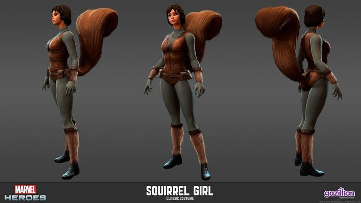 squirrel girl model sheets marvel heroes mmo