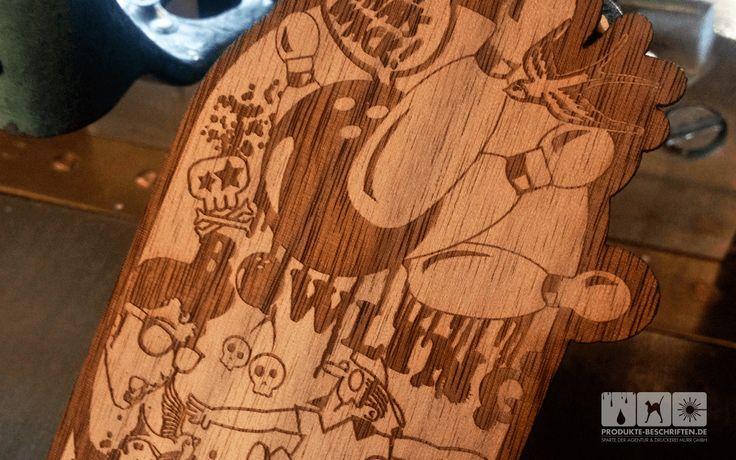 Laserschnitt Holzfurnier - Grußkarte