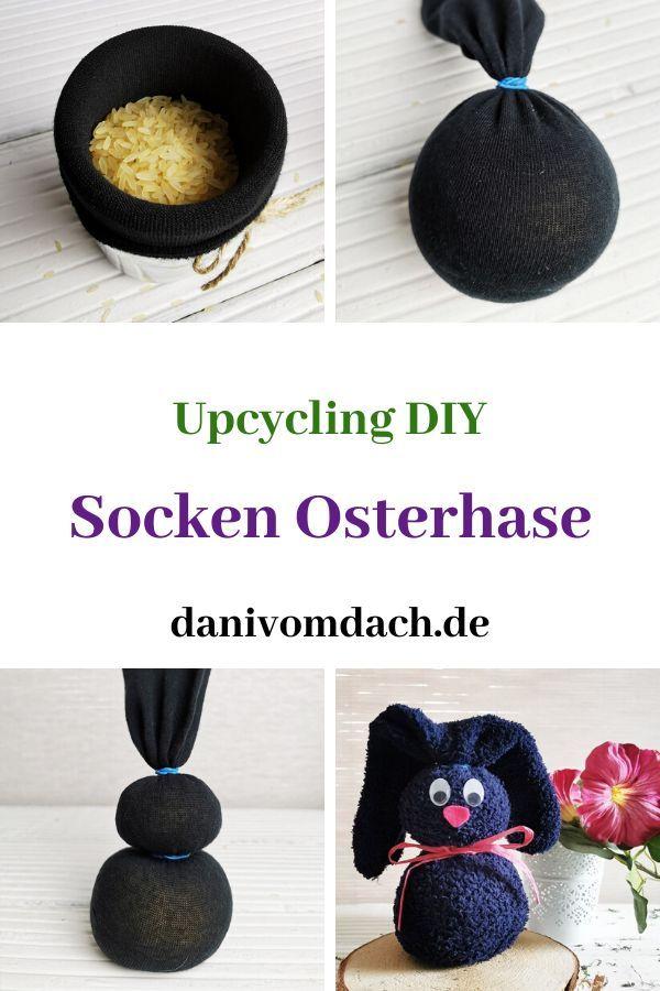 Upcycling Osterdeko Hase In 5 Minuten Aus Einer Alten Socke