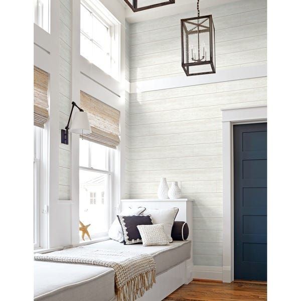 Overstock Com Online Shopping Bedding Furniture Electronics Jewelry Clothing More In 2021 White Shiplap Peel And Stick Wallpaper Ship Lap Walls