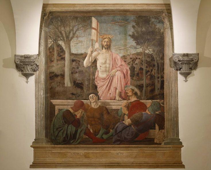 Il celebre affresco di Piero Della Francesca, eseguito tra il 1450 e il 1463 circa e conservato nel Museo Civico di Sansepolcro, è di nuovo in pericolo a causa dell'incuria e del tempo. L'affresco è stato salvato da due ufficiali che disobbedirono agli ordini di bombardare con i cannon