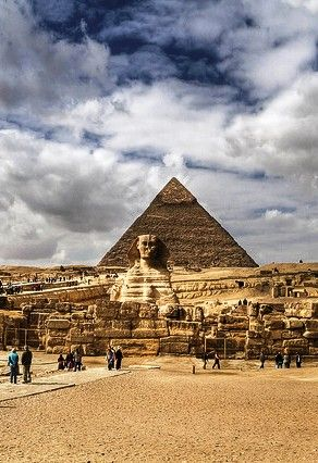 Sphinx in front of Pyramid