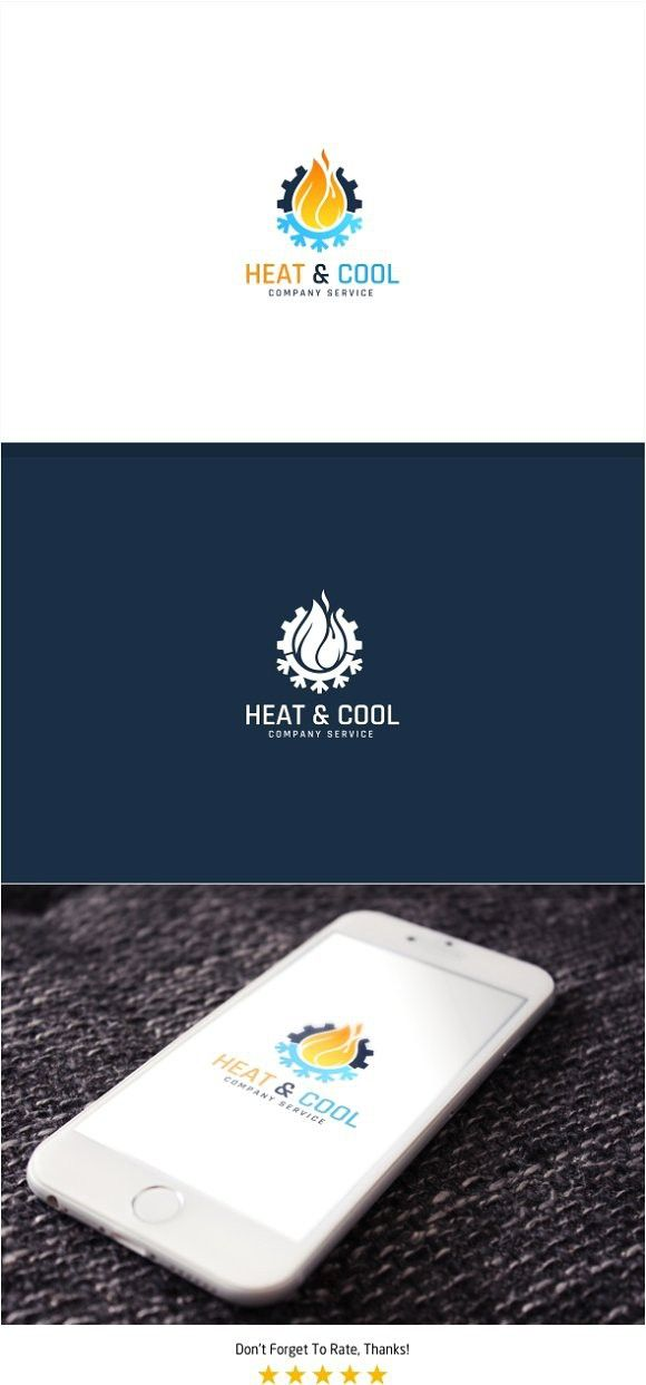 Heating And Cooling Logo Logo Design Template Heating Cooling Professional Logo Design