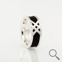 Horsehair ring Cavaletti, Ribbon 6mm the original collection www.nannasalmi.com
