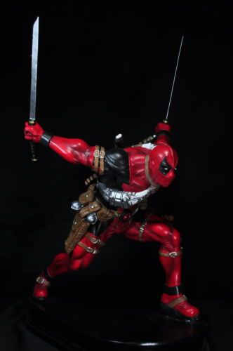 Deadpool 1 4 Scale 23 inches Custom Statue Resin Painted Hot Kit Xmen Toy