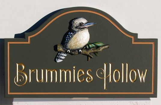 Brummie's Hollow House Name Sign | Danthonia Designs