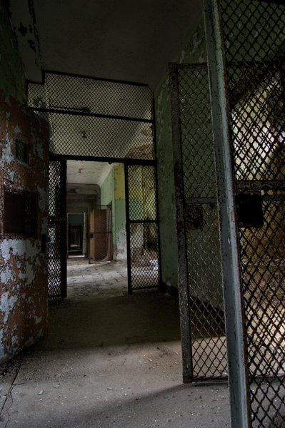 A haunting photograph from The Norwich State Hospital, Norwich, Connecticut, in a building where the criminally insane were housed...through the lens of a very talented photographer, Tom Kirsch.