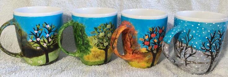 "Kubki ""cztery pory roku"" -  mugs ""the four seasons"""