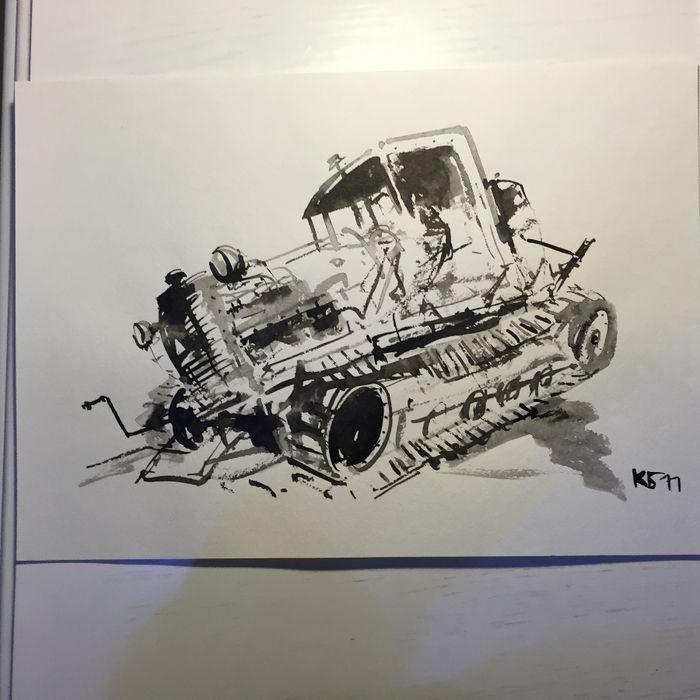 Батынков К.А.  Старый трактор