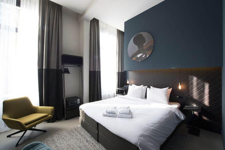 Boutique hotel, Amsterdam by Jeroen de Nijs bni www.jeroendenijs.com #hotel #amsterdam #interior #boutique #bedroom