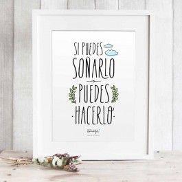 """Lámina """"Si puedes soñarlo, puedes hacerlo"""" - Láminas castellano - Láminas - Papelería"""