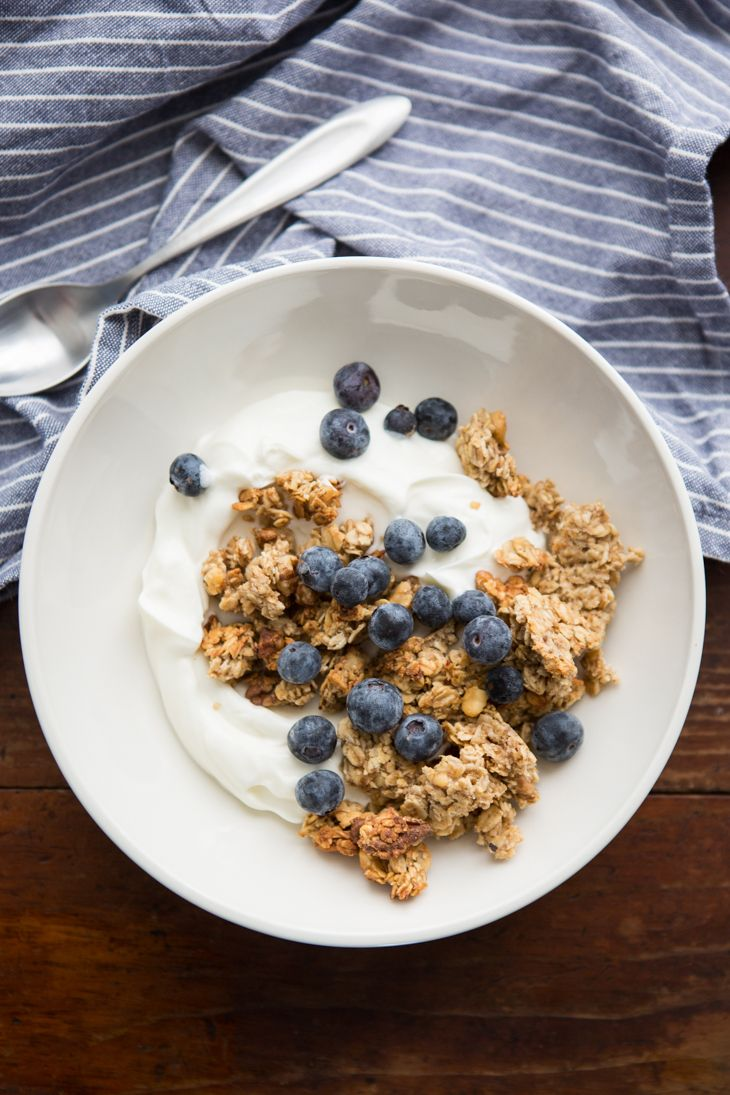 Banana Walnut Granola with Fruit and Yogurt | @naturallyella