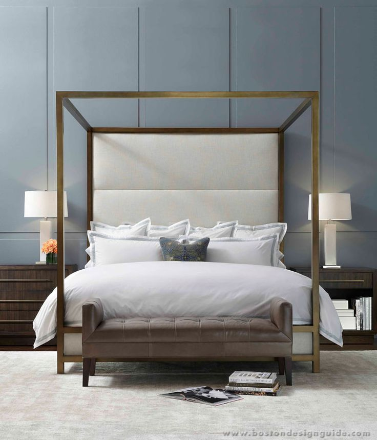 Mitchell Gold + Bob Williams // pretty bed, maybe without or a shorter back?