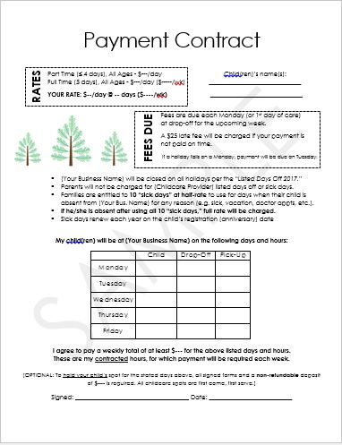Best 25+ Nanny contract ideas on Pinterest Daycare forms - contact details template