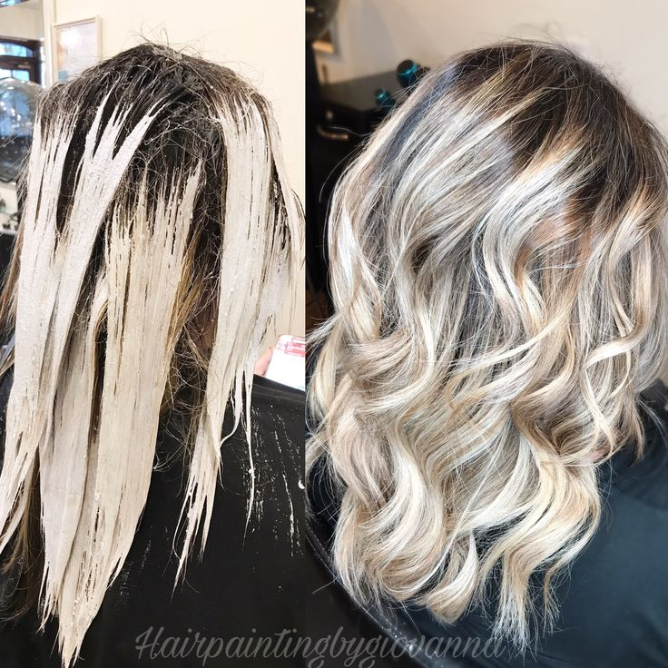 Icy Blonde Hair Using Guytang New Color Line Mydentity Amazing Results Flawless Color Balayage Guytang Hairin Hair Makeover Icy Blonde Hair Blonde Roots