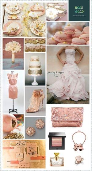Rose Gold #color #palette by Kendrasmiles4u | Rose gold wedding inspiration. Gold wedding colors. Gold wedding inspiration