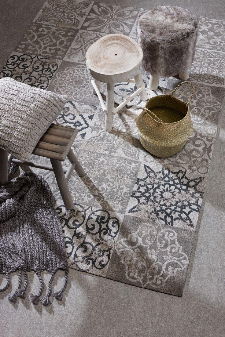 Sfeer op de vloer met patronen: vloerkleed Moosic #kwantum #vloerkleed #kwantum #wonen #interieur