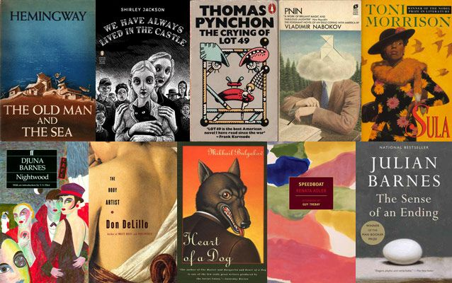 50 Incredible Novels Under 200 Pages- Books that you can afford to read because they're so short you won't be able to stay up too late reading them