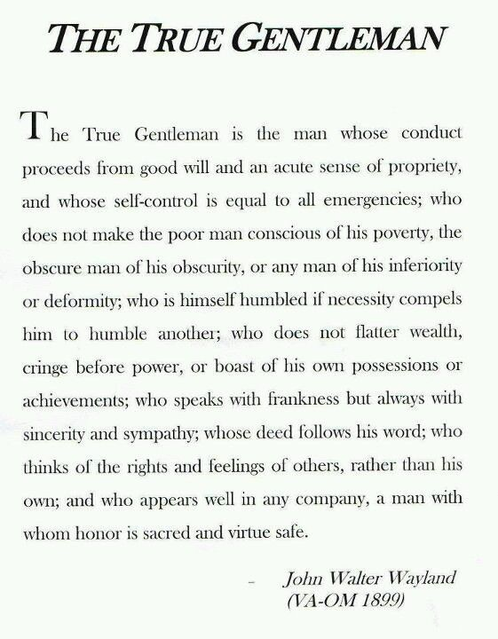 The True Gentleman By John Walter Wayland  Creed of the Sigma Alpha Epsilon fraternity and the USMC