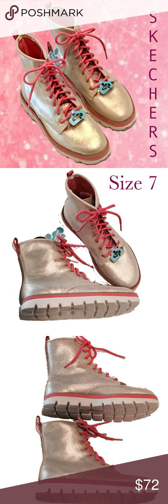 SKECHERS NWT On-The-Go Metallic Gold Hi Tops ~ 7 NWT SKECHERS On-The-Go metallic gold hi tops, size 7 Skechers Shoes Athletic Shoes