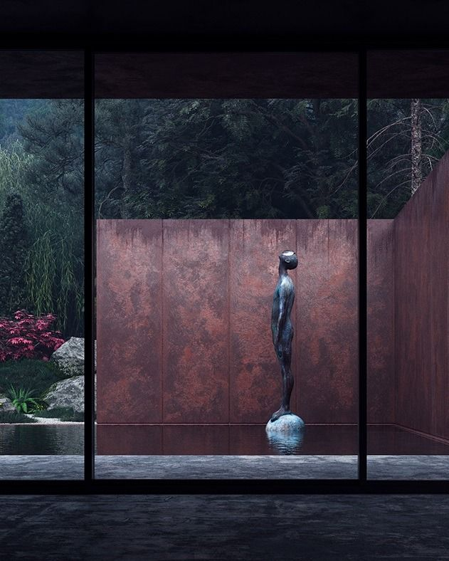 Rose House by Sergey Makhno Studio Rose is a guesthouse made of concrete, weathering steel, glass and water. The steel exterior seems private and fully immersed in the wild nature, whilst the inner...