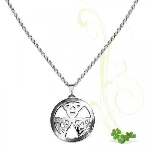 Celtic Trinity Knot Circle Pendant-Regular