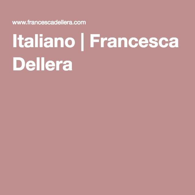 Italiano | Francesca Dellera