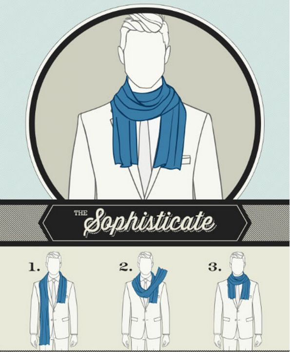 Gentlemen: A Guide for 6 ways to tie a Scarf