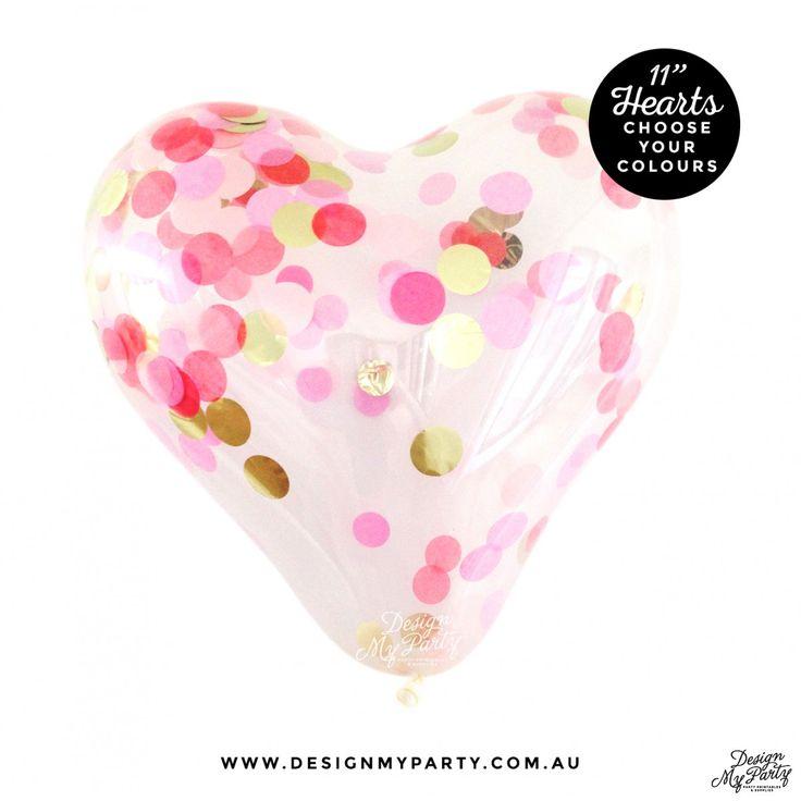 Confetti heart Balloons