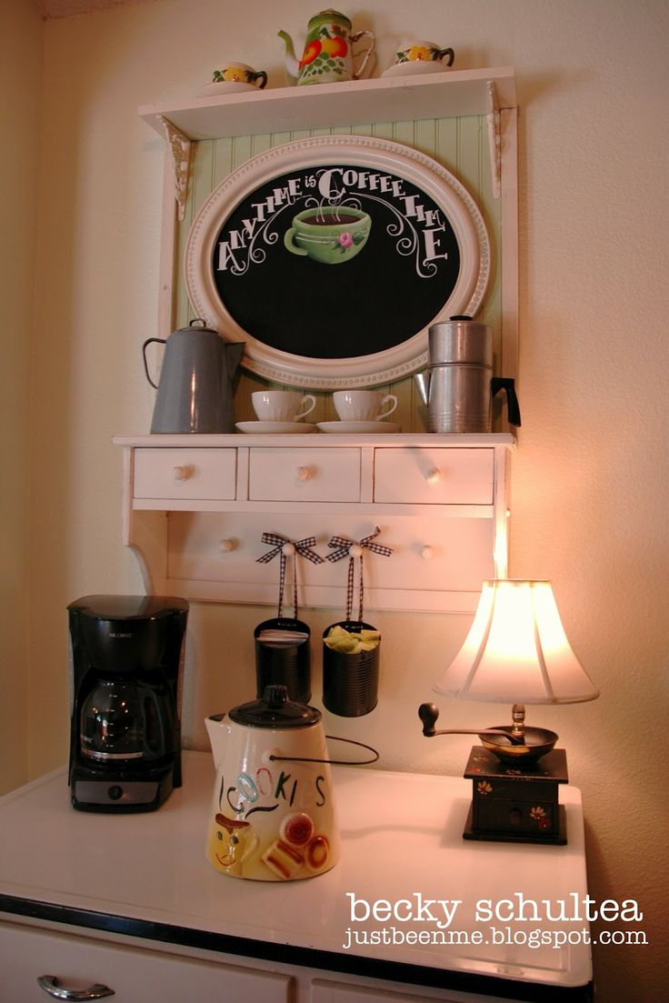 74 best images about diy coffee station ideas on pinterest for Coffee bar station