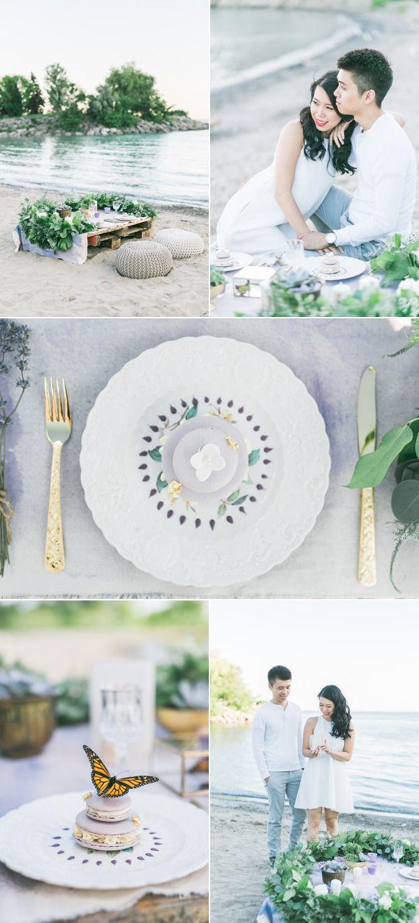 Romantic + Bohemian Beach Engagement