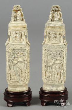 Chinese urn,Ivoor.