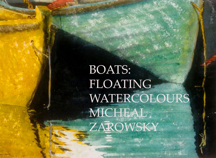 self published book of zarowsky boats watercolours