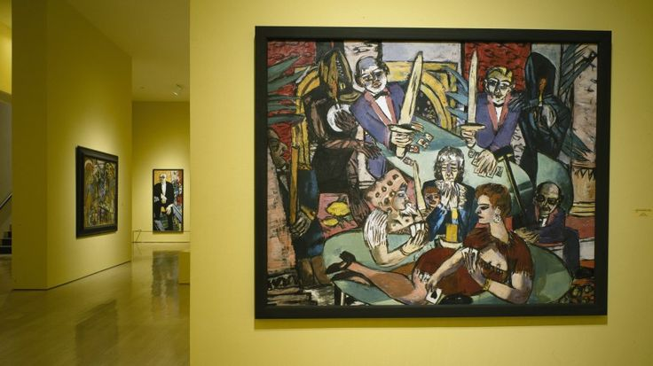 Installation view: Max Beckmann in Exile, Guggenheim Museum SoHo