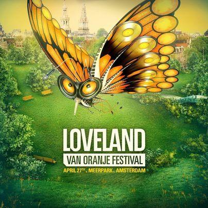 Loveland van Oranje Festival (flyer)