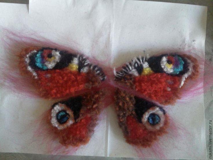 Создаем крылья бабочки из шерсти - Ярмарка Мастеров - ручная работа, handmade