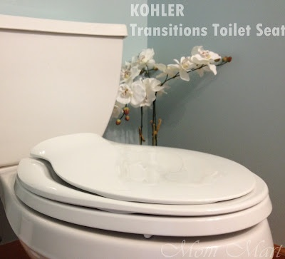 Kohler Transistions Toilet Seat: 2 toilet seats in 1. No messy toddler toilet seats to handle when potty training and super easy to clean up!