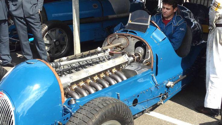 Bugatti Type 59/50B engine start and revving Goodw