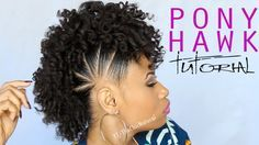 Fun Pony Hawk Curly Natural Hairstyle Video Tutorial.