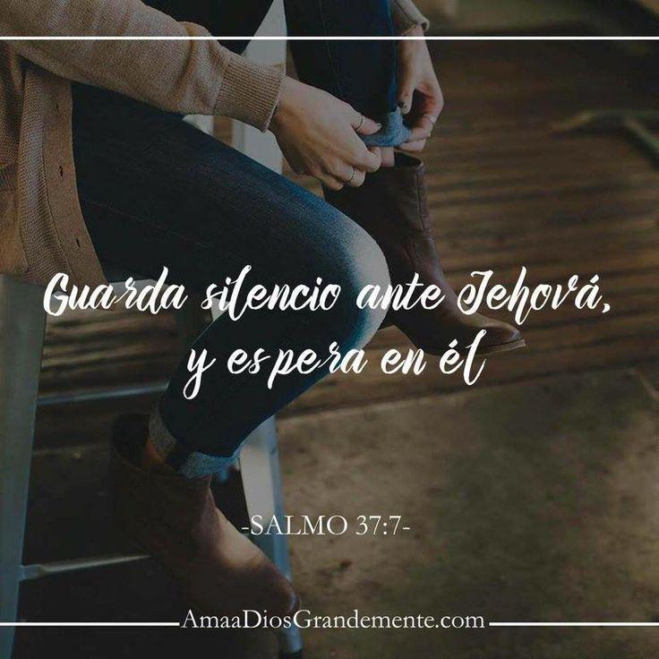 Guarda silencio ante Jehová, y espera en él. Salmo 37:7