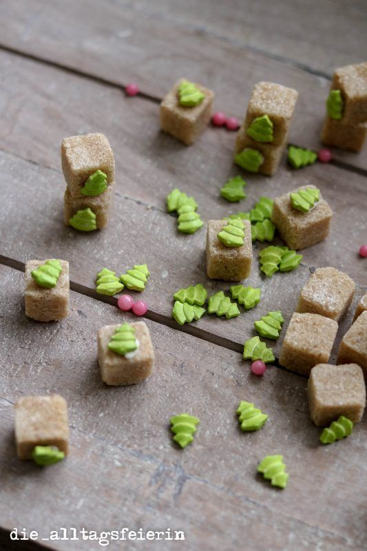 Zuckerwürfel, Zuckerdeko, DIY, homemade, Geschenke aus der Küche, Adventskalender