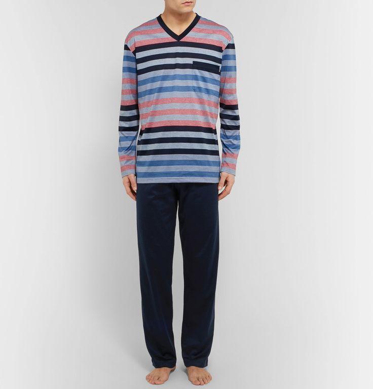 Zimmerli - Striped Cotton Pyjama Set