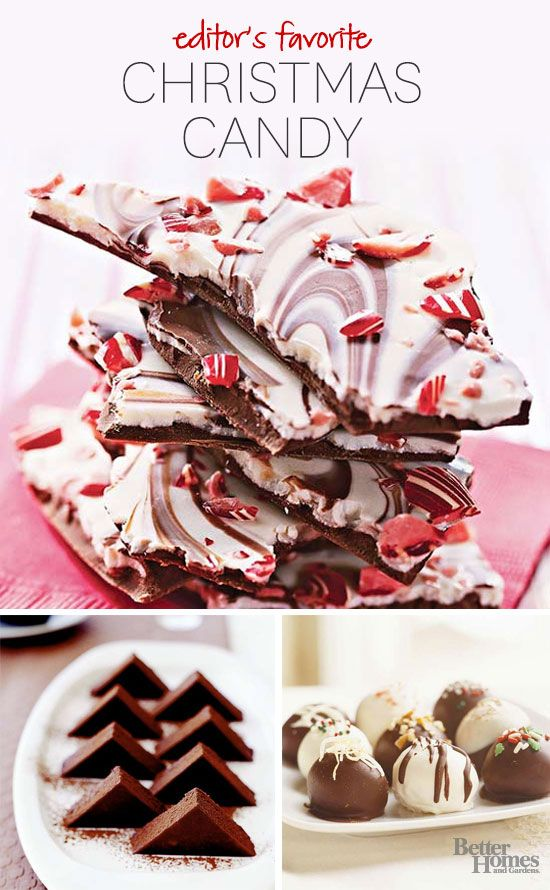 Favorite Holiday Candy Recipes ~ These gorgeous Christmas candies are perfect to give as party favors or special holiday candy gifts. Whether you prefer light-as-air truffles, hard candy, over-the-top fudge, chewy caramels, or sweet gumdrops, this is your one-stop shop for candy recipes.
