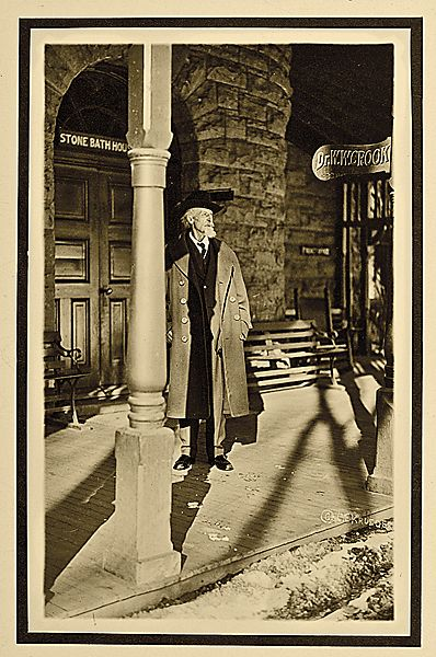 This is the last photograph of Buffalo Bill Cody, taken outside his doctor's office, in Glenwood Springs, Colorado, seven days before he died of kidney failure in Denver on January 10, 1917. - Courtesy Cowan's Auctions -