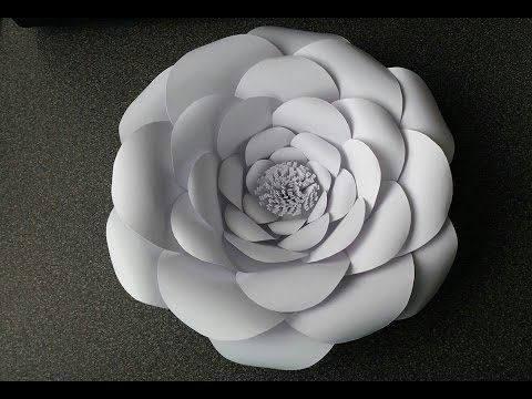 How To Make Adeline Giant Paper Flower  (free templates available for download on Anyone Can Craft Facebook page and website)