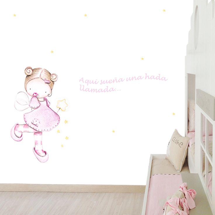 Mural infantil personalizado hada varita imatges per for Papel pintado personalizado
