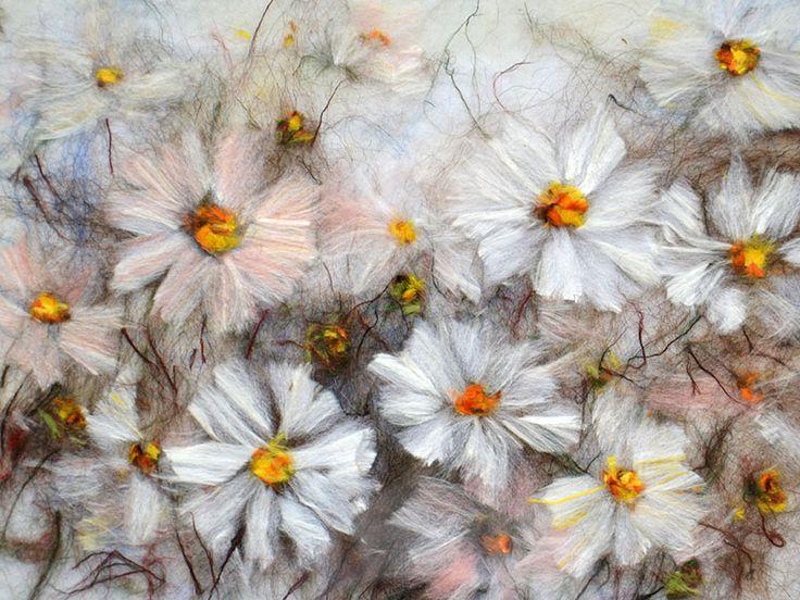 Космея, цветы шерстью » Теплые картины
