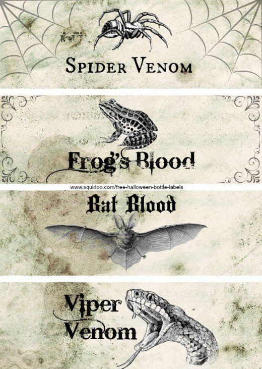 Free printable Halloween bottle labels will make your